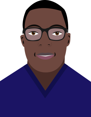 Picture of Kwesi-Patrick in cartoon style